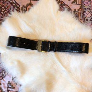 MaxMara leather dark navy black belt